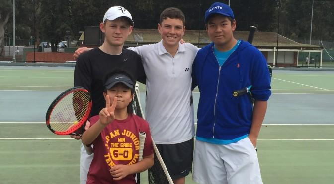 テニス留学生到着